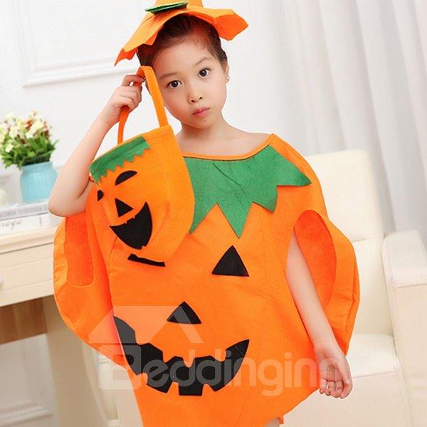 Cute Halloween Style Pumpkin Shape Children Costume