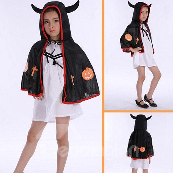 Cute Ox Horn Shape Three Colors for Choose Children Cloak