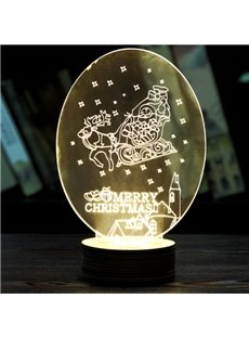 Festival Christmas Decoration Elk Pull Sled Pattern Table Lamp