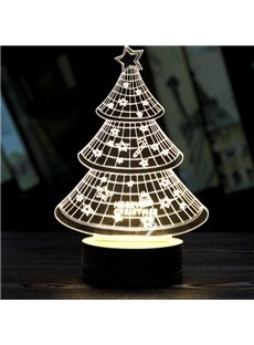 Festival Christmas Decoration 3D Chirstmas Tree Pattern Table Lamp