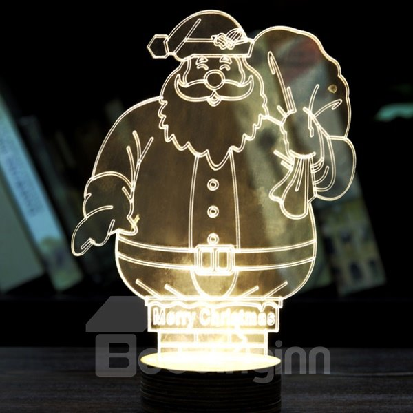 Popular Festival Christmas Decoration Santa Claus Pattern Table Lamp