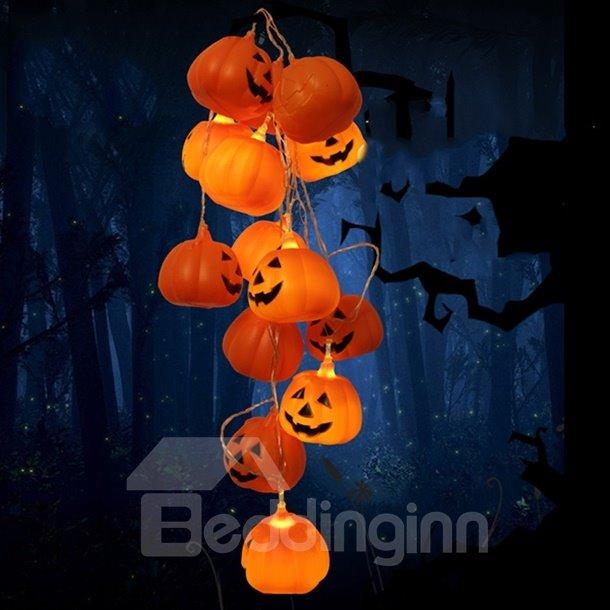 Special Design Plastic Pumpkin Shape Halloween Decoration LED Light