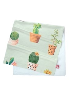 Watercolor Green Bonsai Cactus Printing Face & Hand Towel