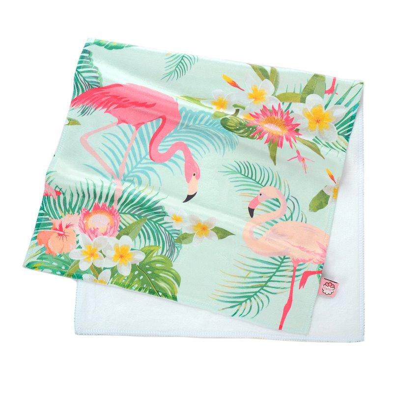 Watercolor Tropical Flamingos Printing Face & Hand Towel