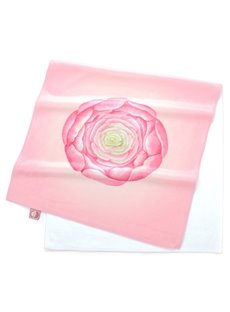 Lovely Watercolor Pink Succulents Printing Face & Hand Towel