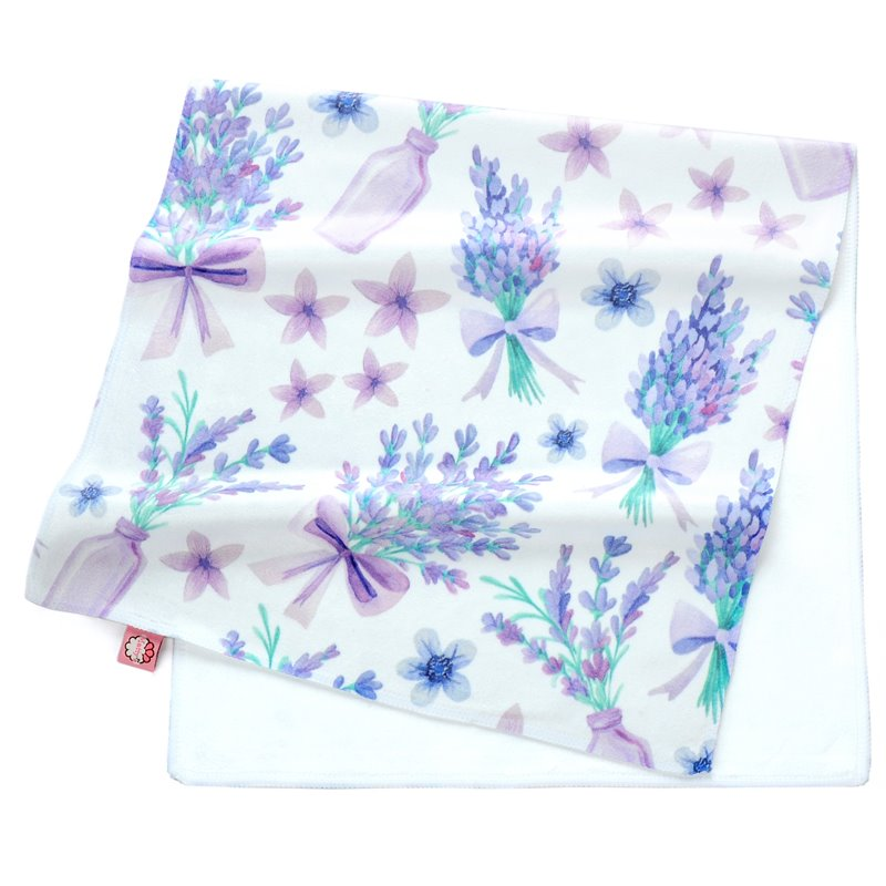Romantic Purple Perfume Lavender Printing Face & Hand Towel