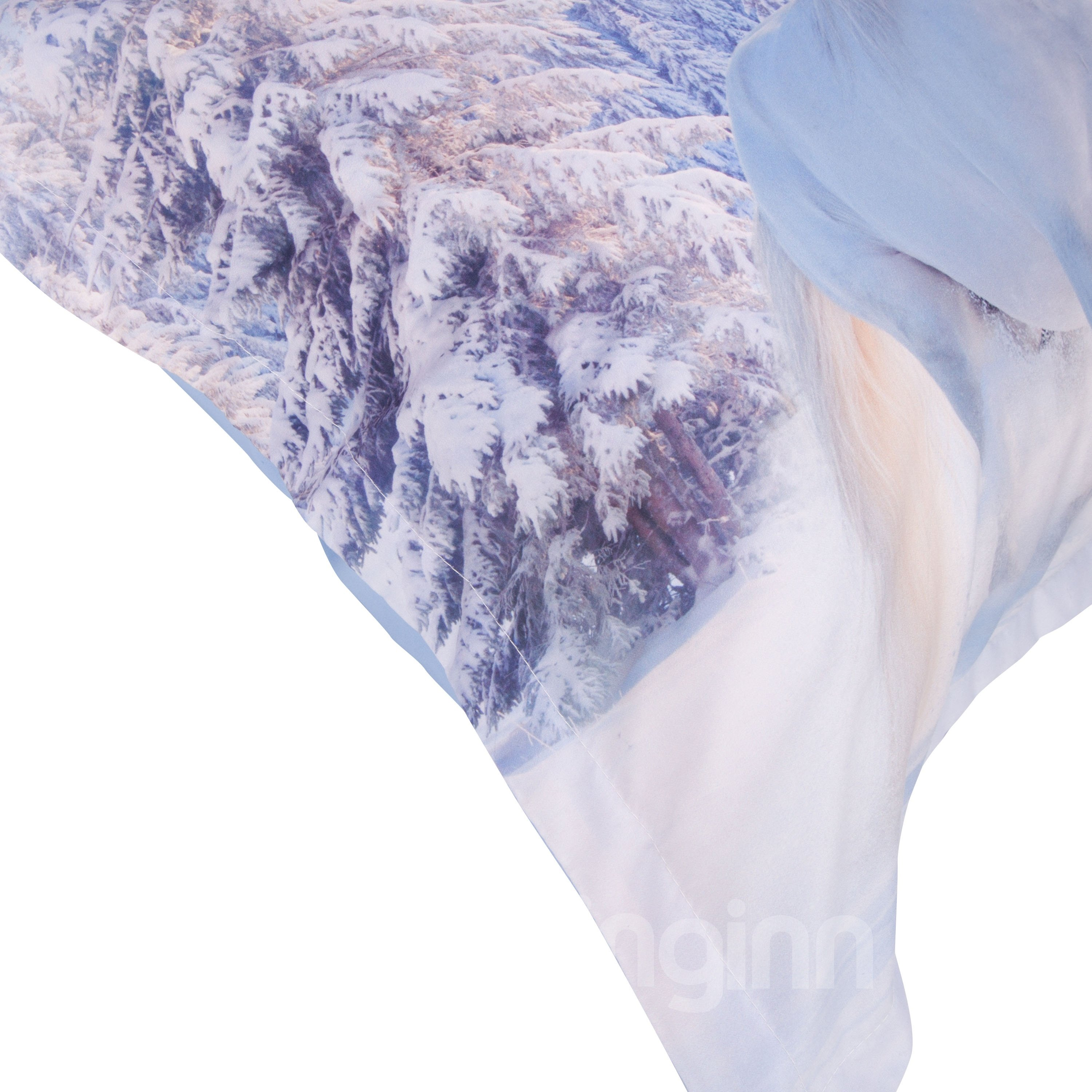 White Horses Printed Cotton 4-Piece 3D Bedding Sets/Duvet Covers