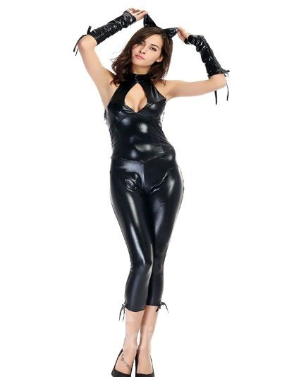 Sexy Black Tight Bunny Special Backless Design Cosplay Costumes