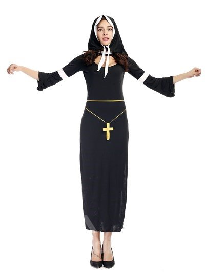 Virgen With Holy Cross Modeling Elegant Cosplay Costumes