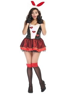 Lovely Bunny Fashional Short Skirt Modeling Charming Cosplay Costumes