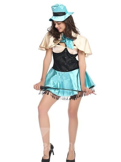 Magic Girl With Magic Wand Light Blue Charming Cosplay Costumes
