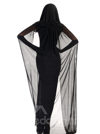 Elegant Special Long Black Skirt With Net Yarn Cloak Witch Cosplay Costumes