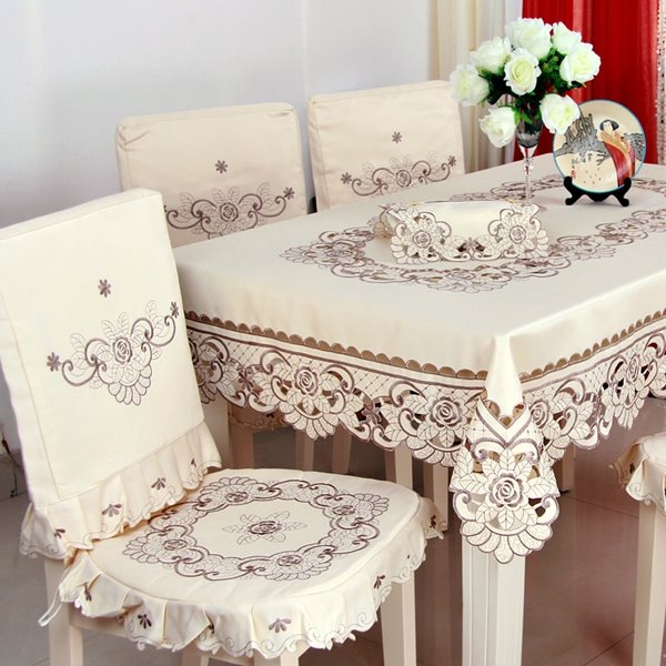 Fashion Design Polyester Fibre with Grey Flowers Pattern Chair Covers