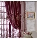 Gorgeous Solid Purple Shading Cloth Grommet Top Curtain