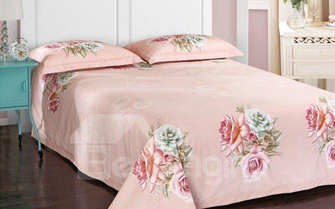 Seductive Colorful Rose 3D Print 4-Piece Cotton Duvet Cover Sets