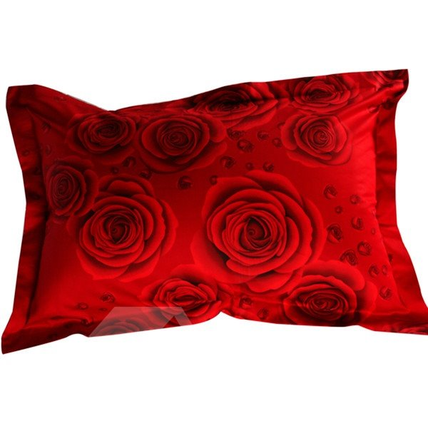 Fabulous Red Rose 3D Print 2-Piece Pillow Cases