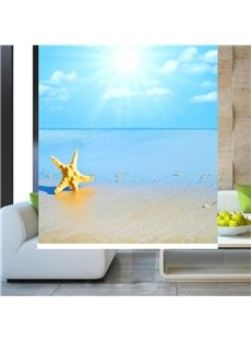 Starfish in the Beach Printing Blackout 3D Roller Shades