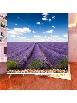 Romantic Purple Lavender Fields Printing Blackout 3D Roller Shades