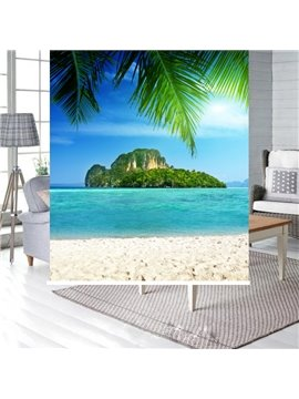 Peaceful Beach and Island Printing Blackout 3D Roller Shades
