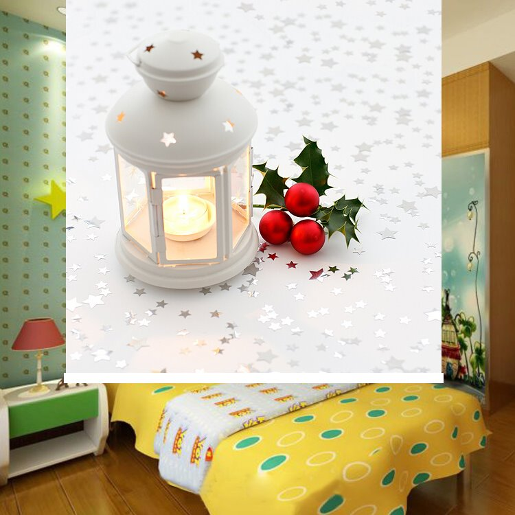 Cute Christmas Bell And Candle Light Printing Blackout 3d