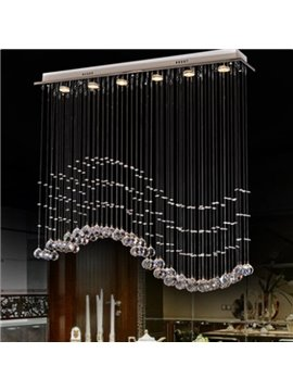 Exquisite and Fashion Crystal Wave Shape Decorative Pendent Lights