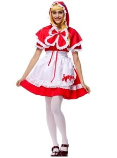 Little Red Riding Hood With Cute Cloak Cosplay Costumes
