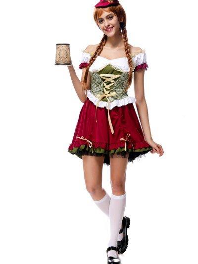 Beautiful Manor Beer Girl Modeling Popular Cosplay Costumes