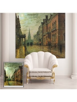 Oil Painting Retro London Street Printing Blackout 3D Roller Shades