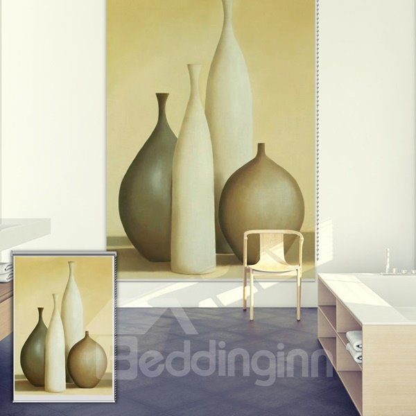 Portray Bottles Oil Painting Printing Blackout 3D Roller Shades
