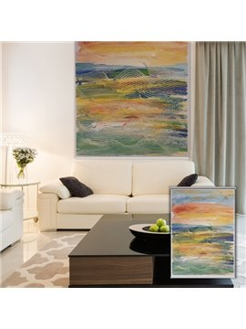 Modern Abstract Oil Painting Pattern Blackout 3D Roller Shades
