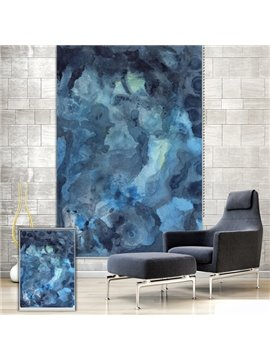 Abstract Watercolor Blue Printing Blackout 3D Roller Shades