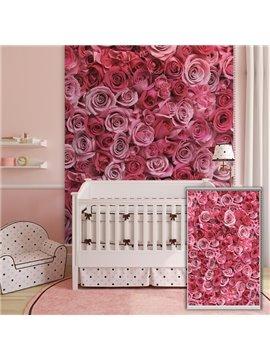 Beautiful Pink Roses Printing 3D Roller Shades