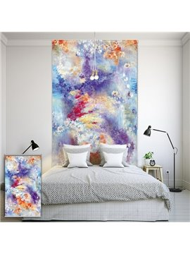 Oil Painting Colored Flowers Printing Blackout 3D Roller Shades