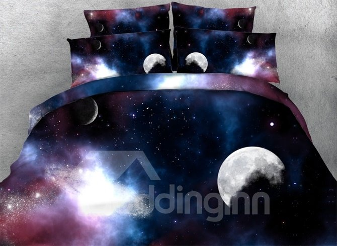 Romantic 3D Galaxy Print 4-Piece Duvet Cover Sets