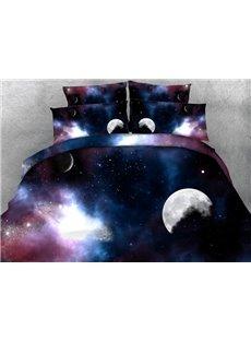 Romantic 3D Galaxy Print 4-Piece Duvet Cover Sets