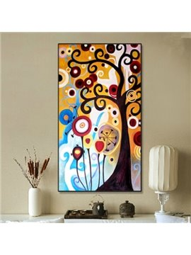 Modern Design Rectangle Colorful Tree Pattern Framed Waterproof Wall Art Prints