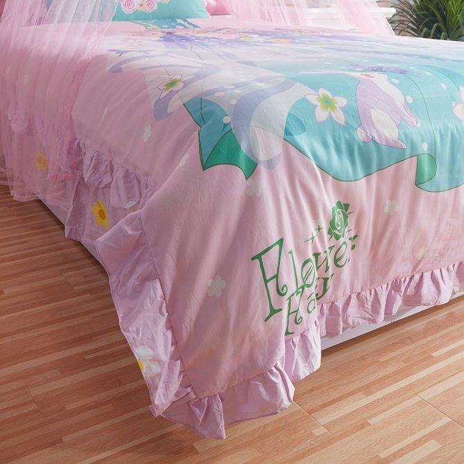 Lovely Magic Fairy Dress Pattern Kids Cotton 4-Piece Duvet Cover Sets