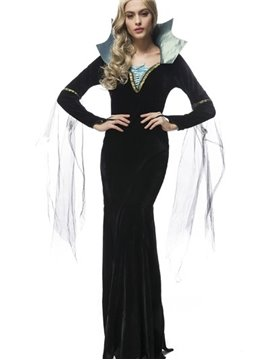 Long Attractive Black Skirt With Lace Decoraction Cosplay Costumes