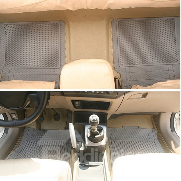Classic Solid Color Anti-Skid And Dust Cost-Effective Universal Car Carpet