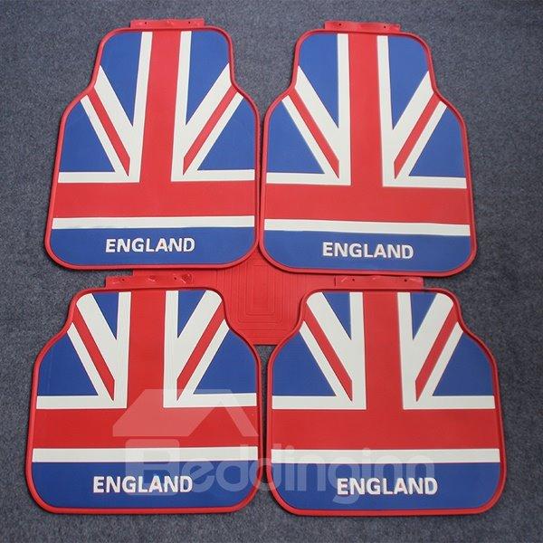 Flag Of England Union Jack Style Slip Waterproof Universal Car Carpet