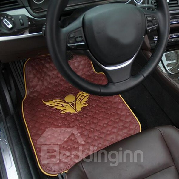 Fashion Eagle Wings Totem Eco-Friendly Material Universal Car Carpet