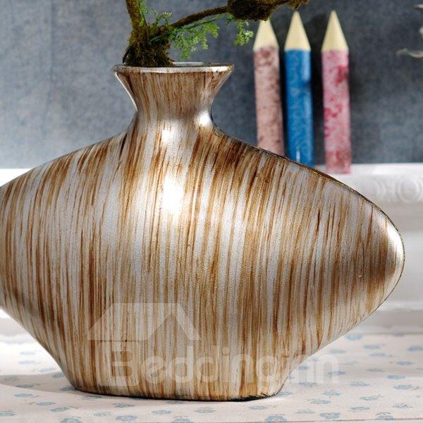 Special Ceramic Winding River Pattern Desktop Decoration Flower Vase