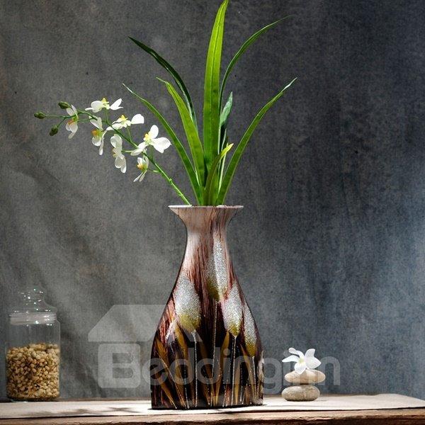 Decorative Ceramic Unique Design with Plants Desktop Flower Vase