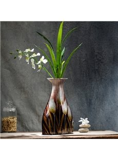 Decorative Ceramic Unique Design with Plants Desktop Flower Vase