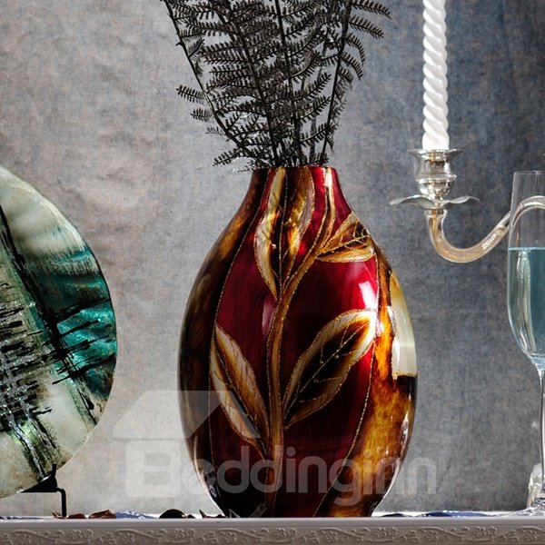 Gorgeous Ceramic Flower Pattern Home Desktop Decoration Flower Vase