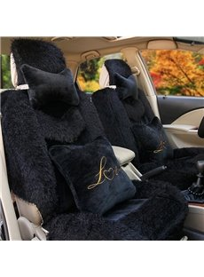 Warm And Comfortable Fluffy Material Special Design Dedicated Car Seat Cover