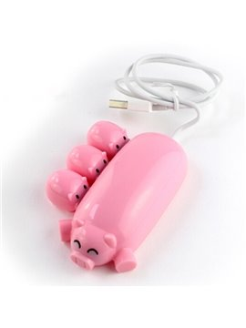 Super Cute Pig Mother with Three Piggies Shape USB Hub