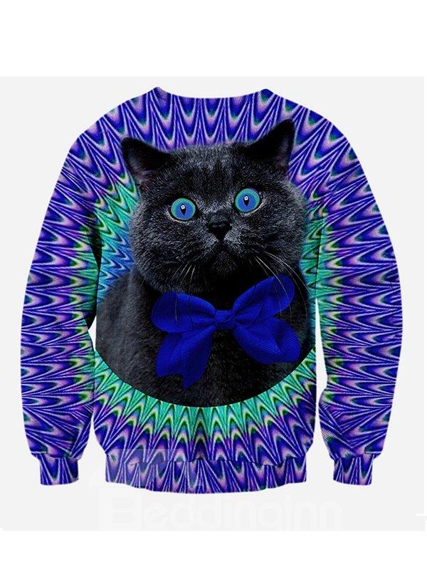 Long Sleeve Persian Cat Pattern 3D Painted Hoodie
