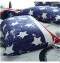 Super Cool Motorcycle Print 4-Piece Duvet Cover Sets
