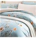 Pastoral Style Fresh Flower Print 4-Piece Duvet Cover Sets